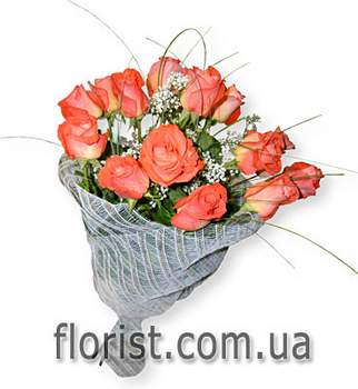 Arrangement of roses Orrange thoughts
